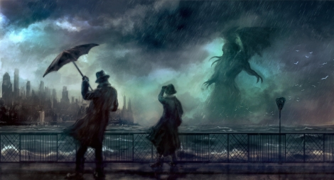 artwork-cthulhu-man-woman-wallpaper